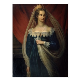 Portret van Prinses Charlotte von Preussen Briefkaart