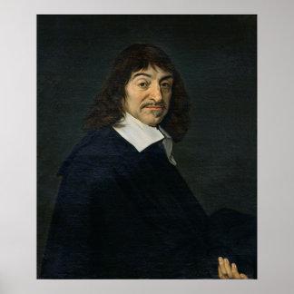 Portret van Rene Descartes c.1649 Poster