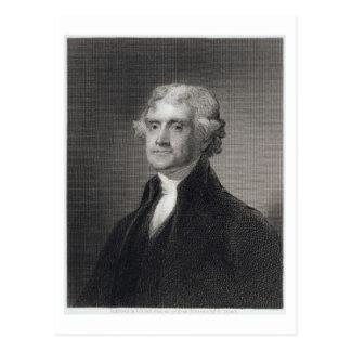 Portret van Thomas Jefferson, dat door Henry Br Briefkaart