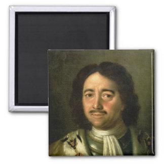 Portret van Tsaar Peter I Grote 1772 Magneet