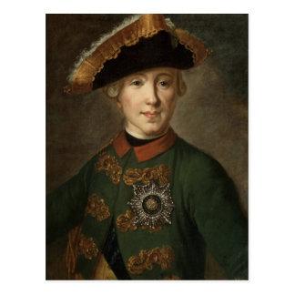 Portret van Tsaar Peter III Briefkaart