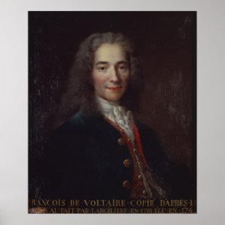 Portret van Voltaire Poster