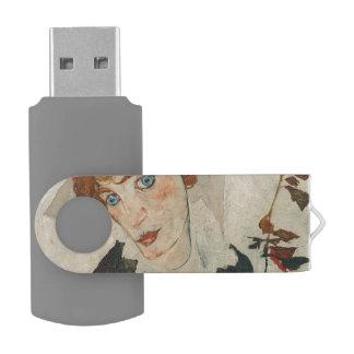 Portret van Wally door Egon Schiele USB Stick