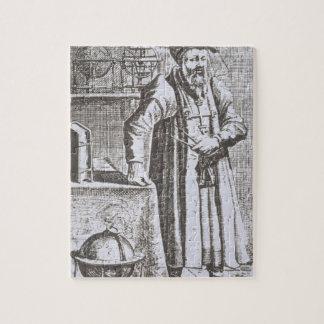 Portret van William Postel (1510-81), van zijn 'DE Puzzels