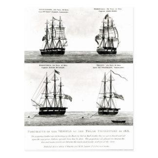 Portretten van de schepen op de Polaire Expeditie Briefkaart