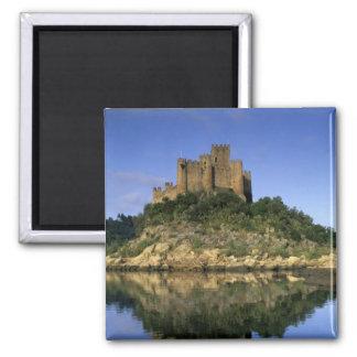 Portugal, Almourol. Castelo do Almourol bouwde Vierkante Magneet