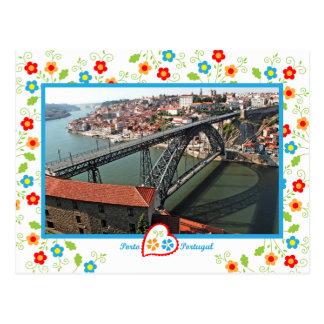 Portugal in foto's - de brug van Porto D.Luís Briefkaart