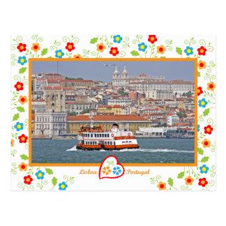 Portugal in foto's - Lissabon van de rivier Briefkaart
