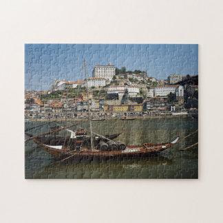 Portugal, Porto, Boot met Wijnvatten Puzzel