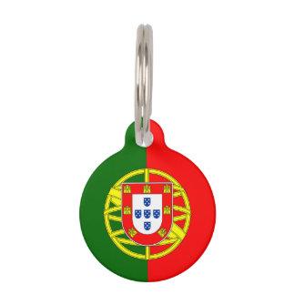 Portugees het huisdierenlabel van de vlagdouane huisdierpenning