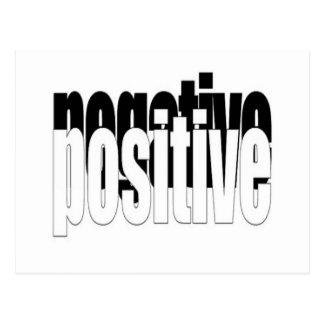 Positief en Negatief Briefkaart