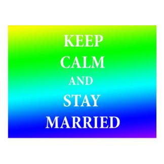 Positief huwelijksbriefkaart briefkaart