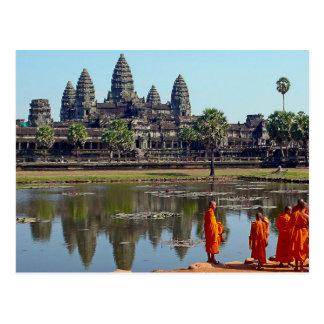 Postcard Buddhists in Angkor Wat, Cambodia Briefkaart