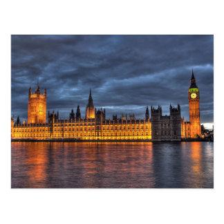 Postcard Hoes of Parliament/Big Ben, London U.K. Briefkaart