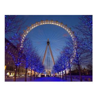 Postcard London Eye Blue Twilight, London U.K. Briefkaart