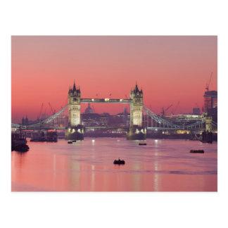 Postcard London Tower Brug (sunset), London, U.K. Briefkaart
