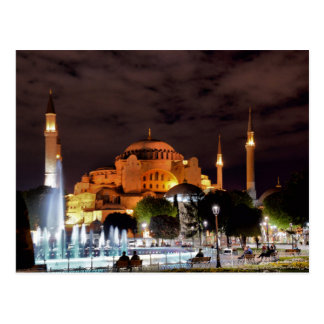 Postcard Santa Sofia Mosque in Istanbul, Turkey Briefkaart