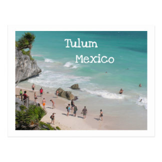 POSTCARD/TULUM, MEXICO/RUINS BOVEN STRAND BRIEFKAART