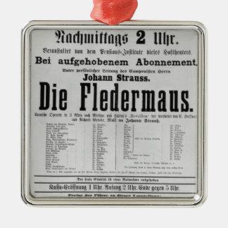 Poster adverterene Matrijs Fledermaus door Johann Zilverkleurig Vierkant Ornament