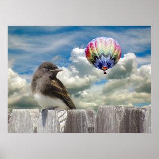 Poster - de ballon van de Vogel en van de hete luc