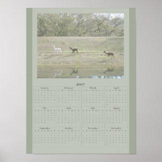 Poster - de Kalender van de Alpaca van 2017