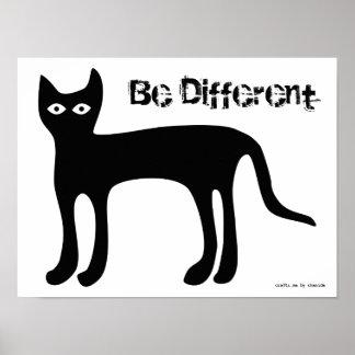 Poster - de Kat van het Exemplaar, Verschillend is