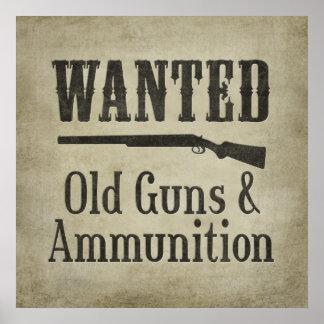Poster: Gewild - Oude Pistolen & Munitie Poster