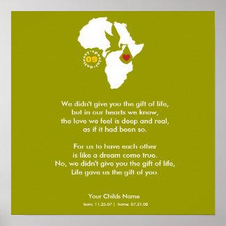 Poster - het Gedicht van de Goedkeuring - Gift van
