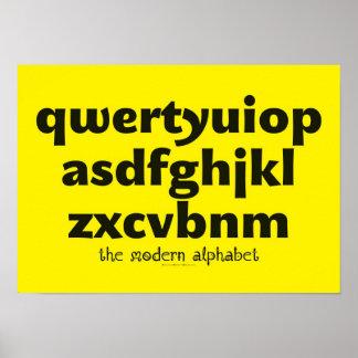 Poster - het Moderne Alfabet