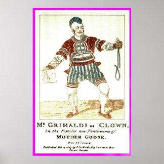 "Poster - Joseph ""Joey"" Grimaldi Jnr, als 'Clown"
