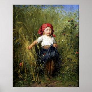 Poster met Heinrich Hirt Painting