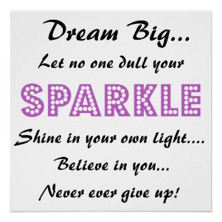 Poster met Motivatie Spreuk - Grote Droom!