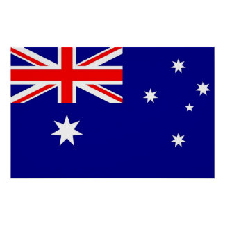 Poster met Vlag van Australië