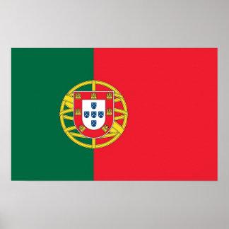 Poster met Vlag van Portugal