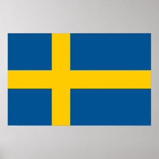 Poster met Vlag van Zweden