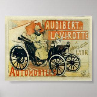 Poster of Druk van de Advertentie van de oldtimer