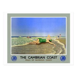 Poster Uit het Cambrium van de Reis van de Kust Briefkaart