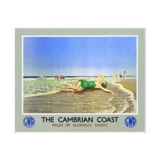 Poster Uit het Cambrium van de Reis van de Kust Canvas Afdrukken