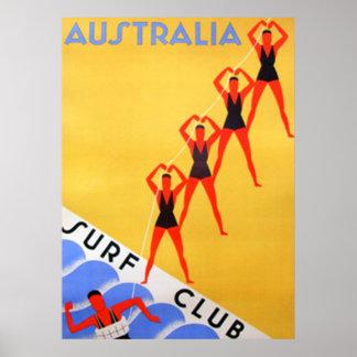 Poster van Australië van de reis het Vintage
