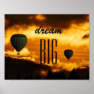 Poster van de Ballon van de Hete Lucht van de