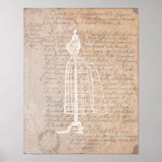 Poster van de Brief van de Vorm van de kleding het