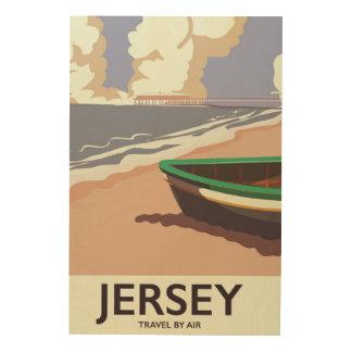 Poster van de de kustreis van Jersey het vintage