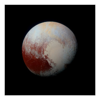 Poster van de DwergPluto van de Planeet door NASA