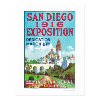 Poster van de Expositie van San Diego het Briefkaart