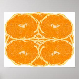 Poster van de Kunst van de oranje van het Fruit