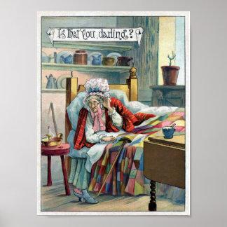Poster van de Kunst van GranMa van de Rode het Ber
