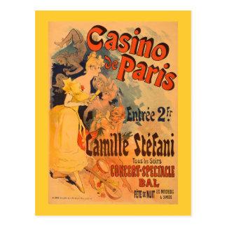 Poster van de Kunst van het casino DE Parijs het Briefkaart