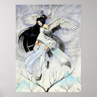 Poster van de Kunst van Ninja van de sneeuw & van