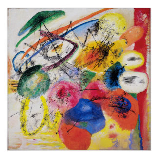 Poster van de Lijnen van Kandinsky het Zwarte