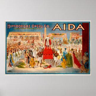 Poster van de Opera van de reproductie het vintage